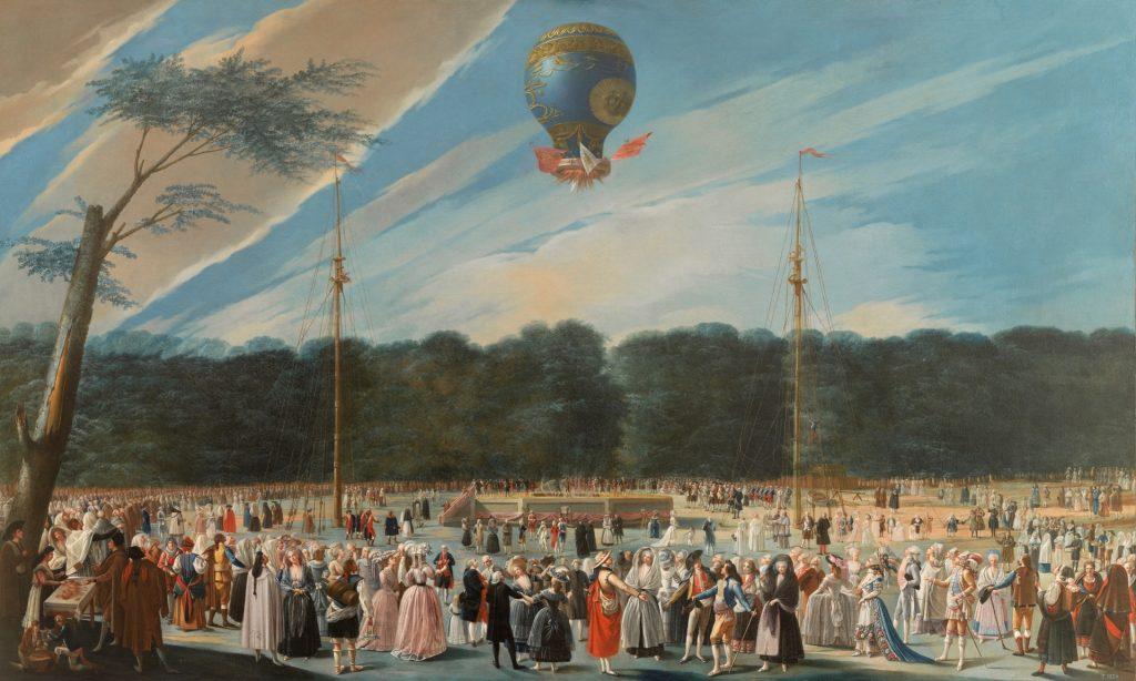 Ascensión de un globo Montgolfier en Aranjuez