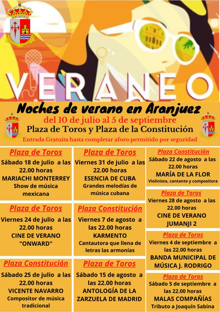 Aranjuez presenta su plan de música y cine para el verano