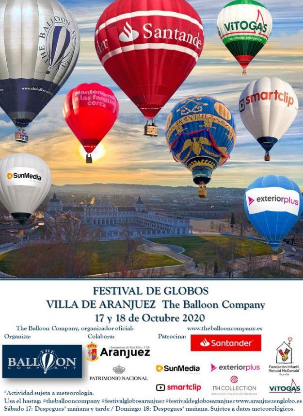 Vuelve el festival de Globos Villa de Aranjuez este 2020